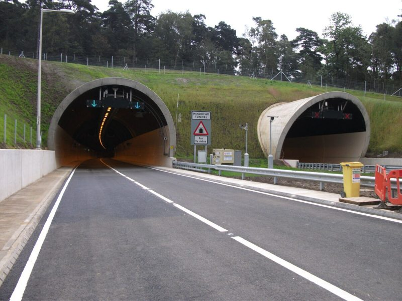Reduced congestion at the Hindhead Tunnel
