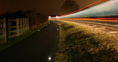 Cycle Path Delineation along the Cambridgeshire Guided Busway