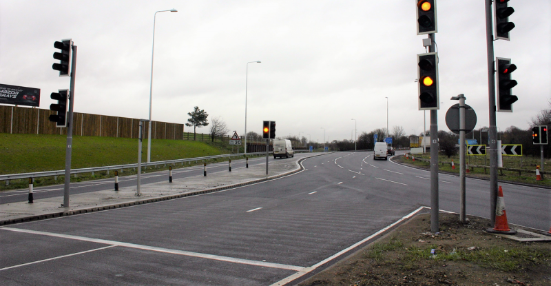 Wireless vehicle detection in MOVA installation aids traffic flow at Junction 30 of the M25
