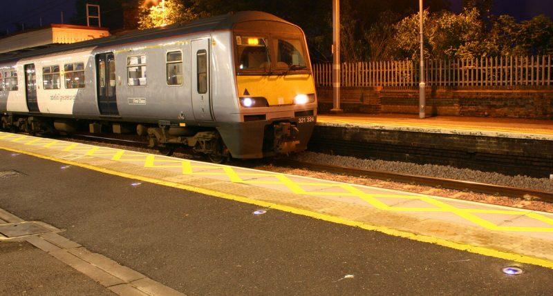 Romford Railway Station Platform Delineation