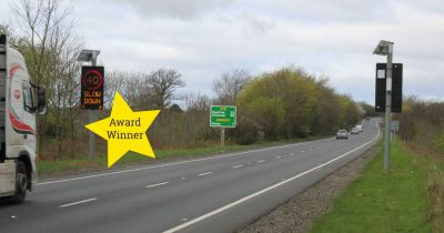 Vehicle Activated Dynamic Speed Warning on the A75